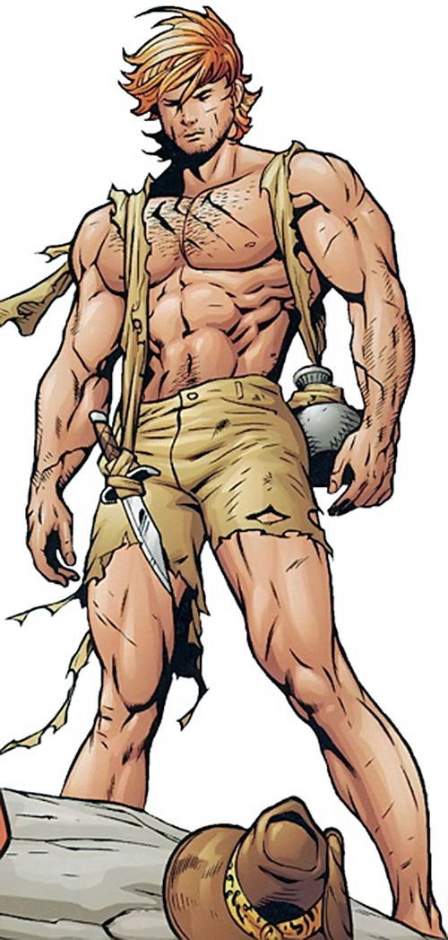 Catman of the Secret 6 (DC Comics) looking like Tarzan
