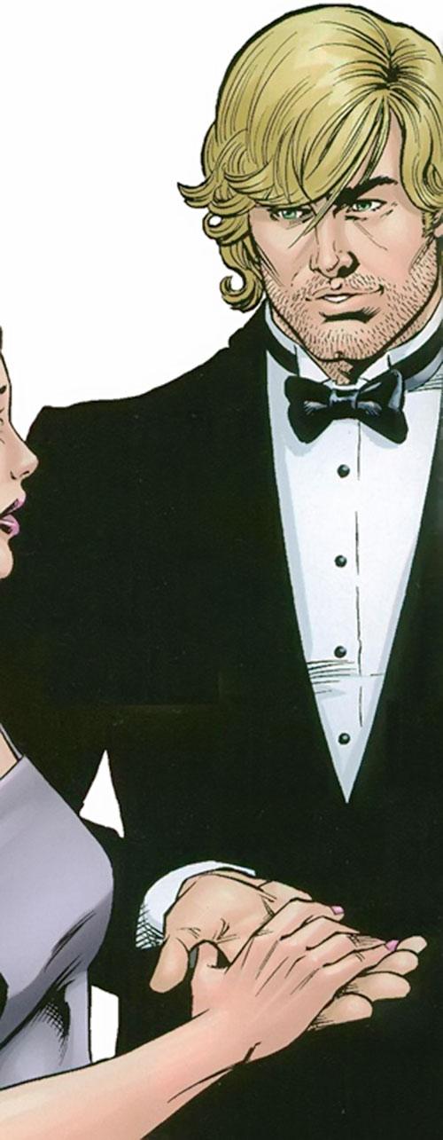 Catman of the Secret 6 (DC Comics) in a tuxedo