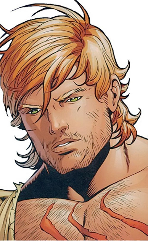 Catman of the Secret 6 (DC Comics) face closeup