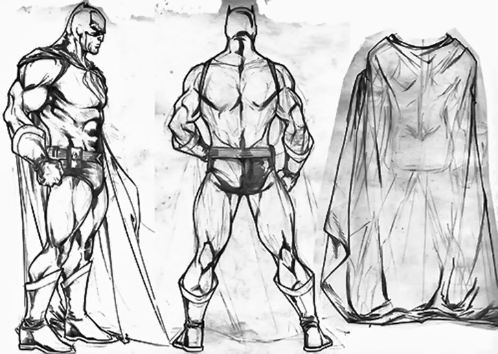Catman character model sheet