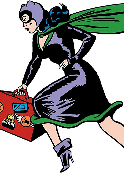 1950s Catwoman (DC Comics) (Batman) costume and briefcase