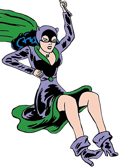 1950s Catwoman (DC Comics) (Batman) swinging