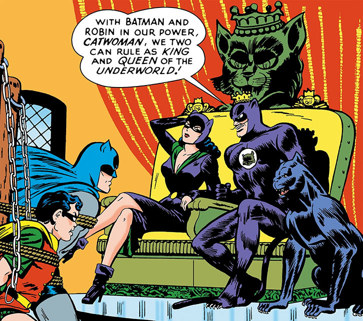 1950s Catwoman (DC Comics) (Batman) with the Cat King