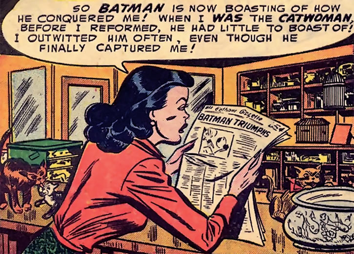 1950s Catwoman (DC Comics) (Batman) newspaper anger