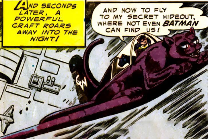 1950s Catwoman (DC Comics) (Batman) cat-plane taking off