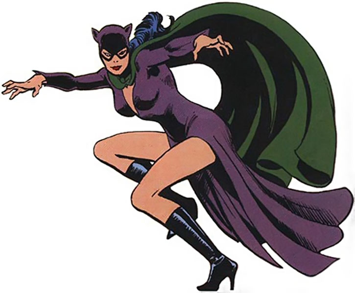 Catwoman's purple and green pre-Crisis costume