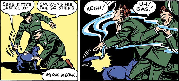 Catwoman (DC Comics) 1940s cat tricked tail gas guards
