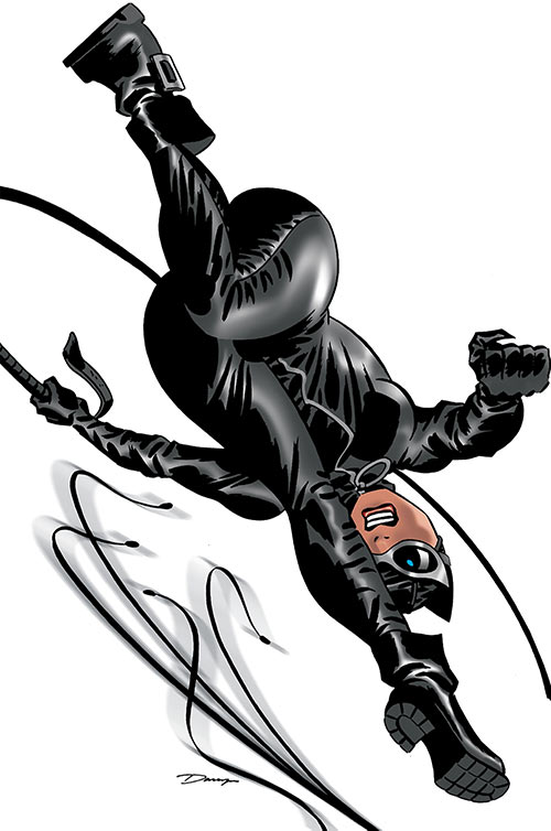 Catwoman (DC Comics) cover artwork by Darwyn Cooke - Leaping and whipping