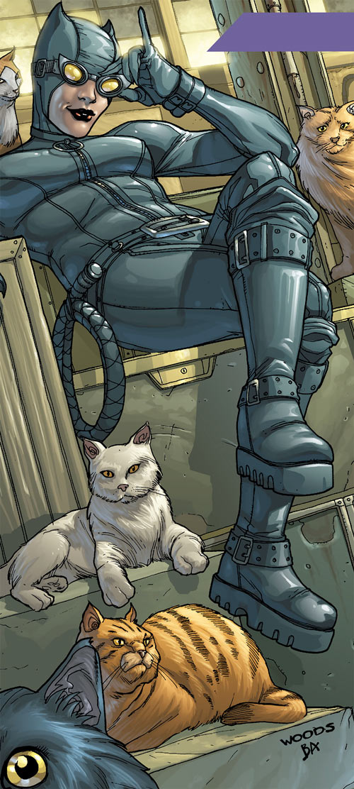 Catwoman (DC Comics) and a few cats