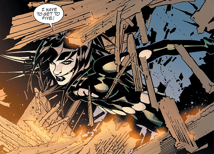 Catwoman (Imagine Stan Lee version) using her claws