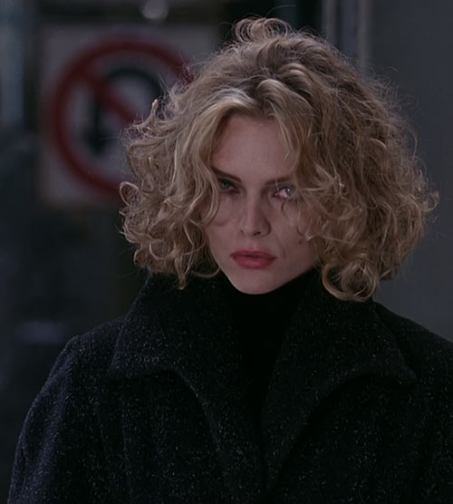 Catwoman (Michelle Pfeiffer) (Batman Returns 1992 movie) looking cool stare