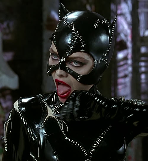 Catwoman (Michelle Pfeiffer) (Batman Returns 1992 movie) mouth open tongue