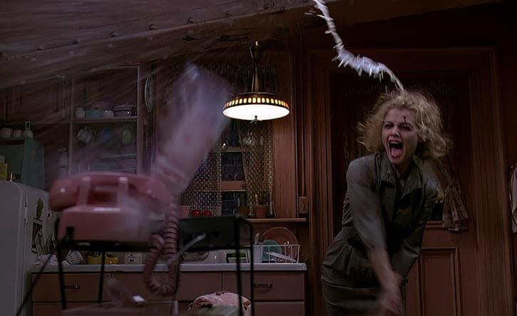 Catwoman (Michelle Pfeiffer) (Batman Returns 1992 movie) going mad throws milk