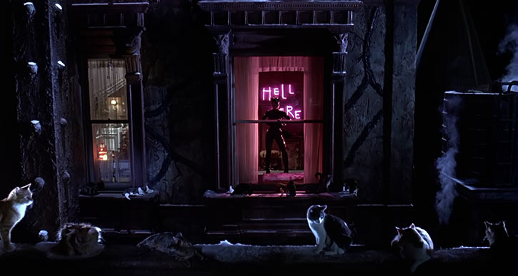 Catwoman (Michelle Pfeiffer) (Batman Returns 1992 movie) HELL HERE neon and cats