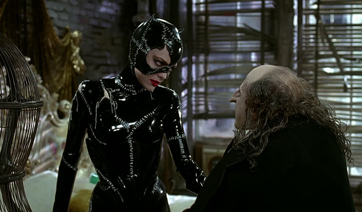 Catwoman (Michelle Pfeiffer) (Batman Returns 1992 movie) and the Penguin