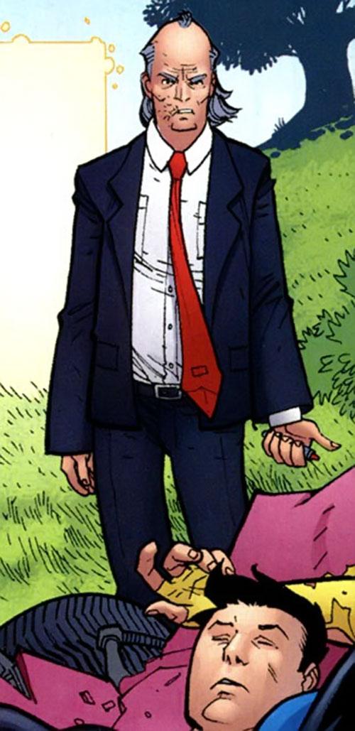 Cecil Stedman (Invincible Comics) and an unconscious Invincible