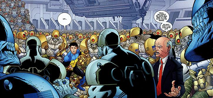 Cecil Steadman's undead cyborg army