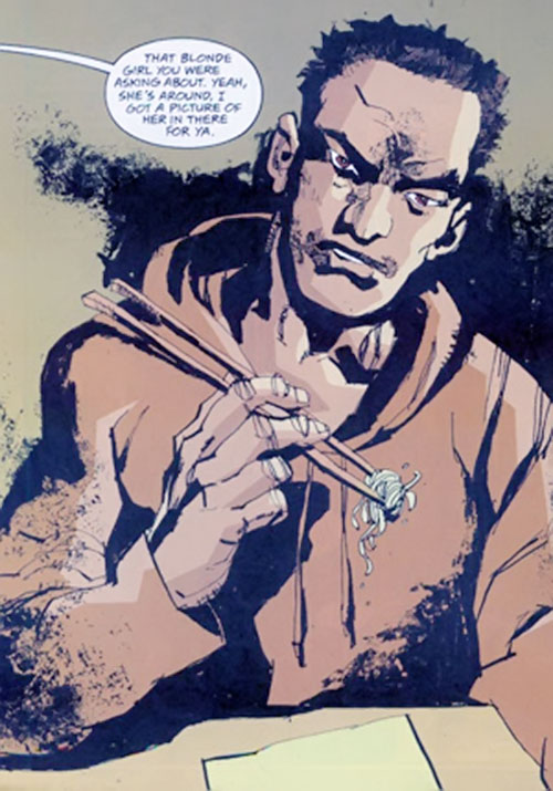 Cedric (Fight for Tomorrow) (DC Comics) eating noodles
