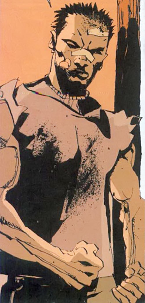Cedric (Fight for Tomorrow) (DC Comics) battered and muscular