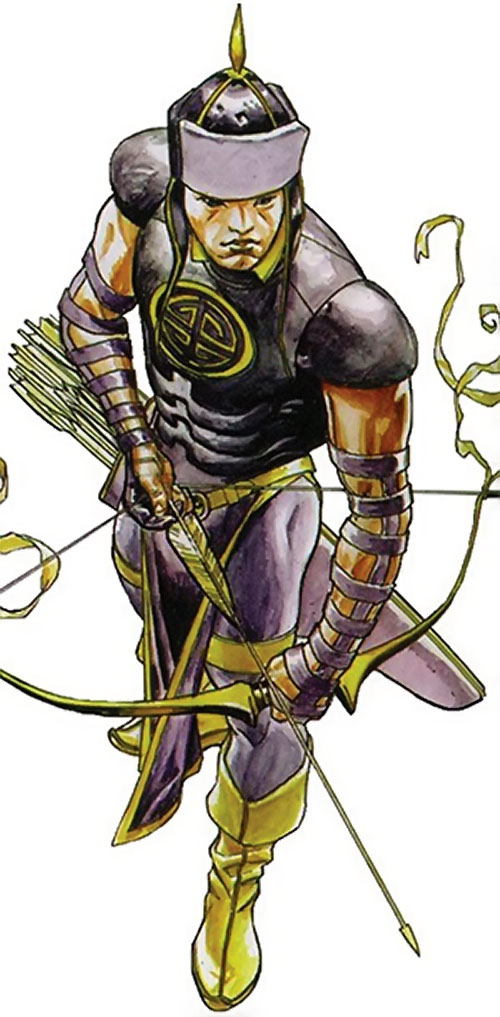 Celestial Archer of the Great 10 (DC Comics) high angle view