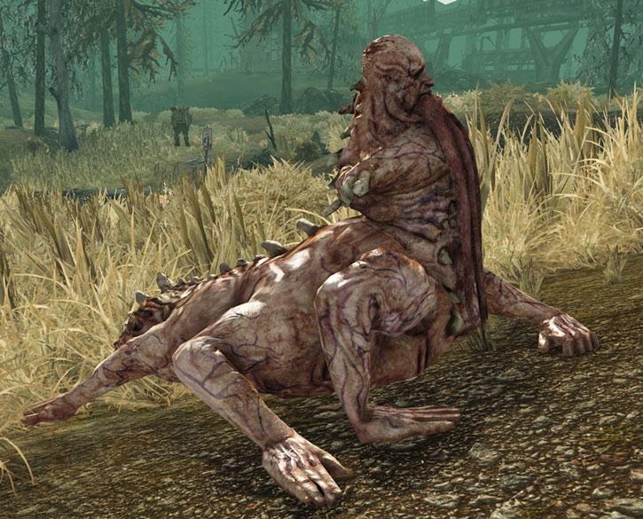 Centaur in Fallout 3 in tall grass