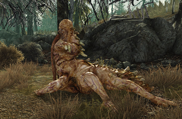 Centaur in Fallout 3 side view near trees