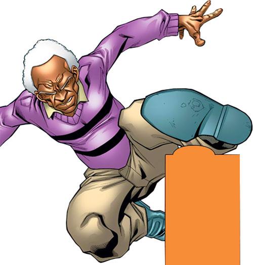 Centennial of Alpha Flight (Marvel Comics) leaping foot first
