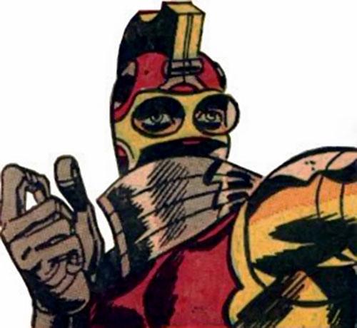 Centurius helmet closeup (Nick Fury enemy) (Marvel Comics)