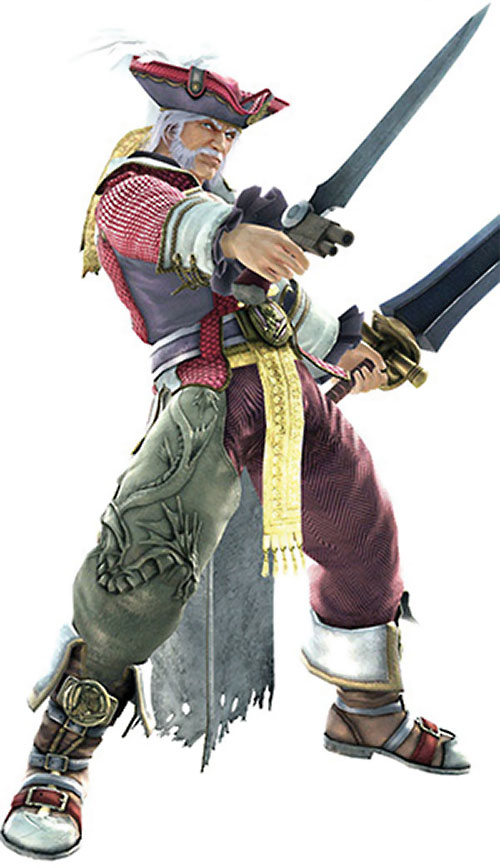 Cervantes de Leon (Soul Calibur) with a gun-sword