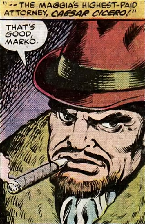 Caesar Cicero of the Maggia (Marvel Comics)
