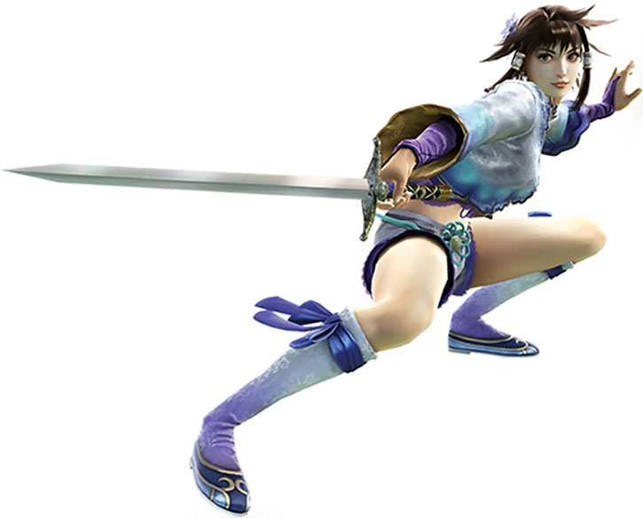 Chai Xanghua in a fencing stance