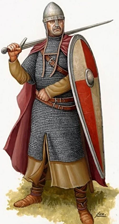 Norman Knight in chainmail