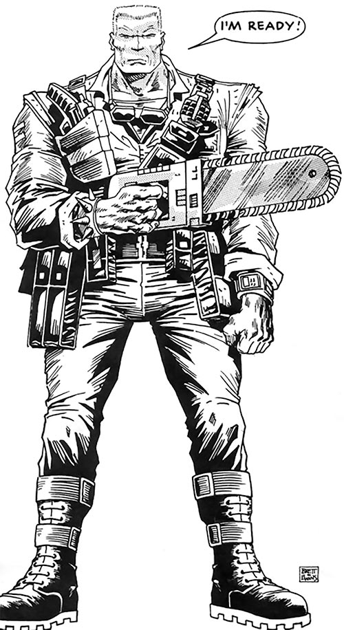 Chainsaw Warrior - From the comic in the boardgame