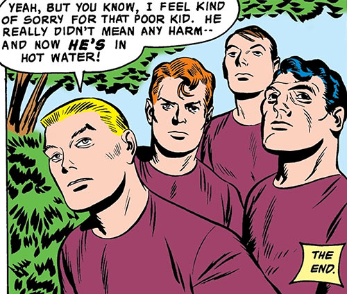Challengers of the Unknown (Jack Kirby) (DC Comics) hot water