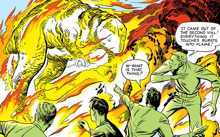 Challengers of the Unknown (Jack Kirby) (DC Comics) burning creature