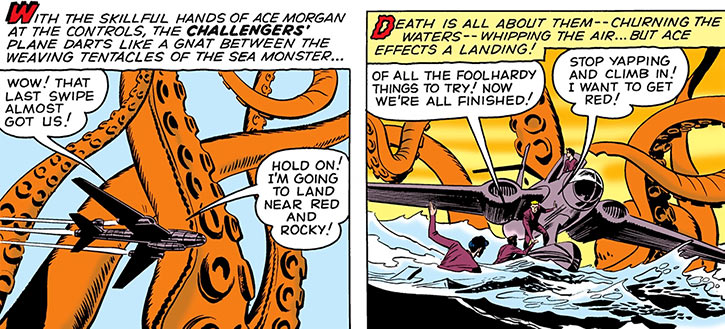 Challengers of the Unknown (Jack Kirby) (DC Comics) plane tentacles