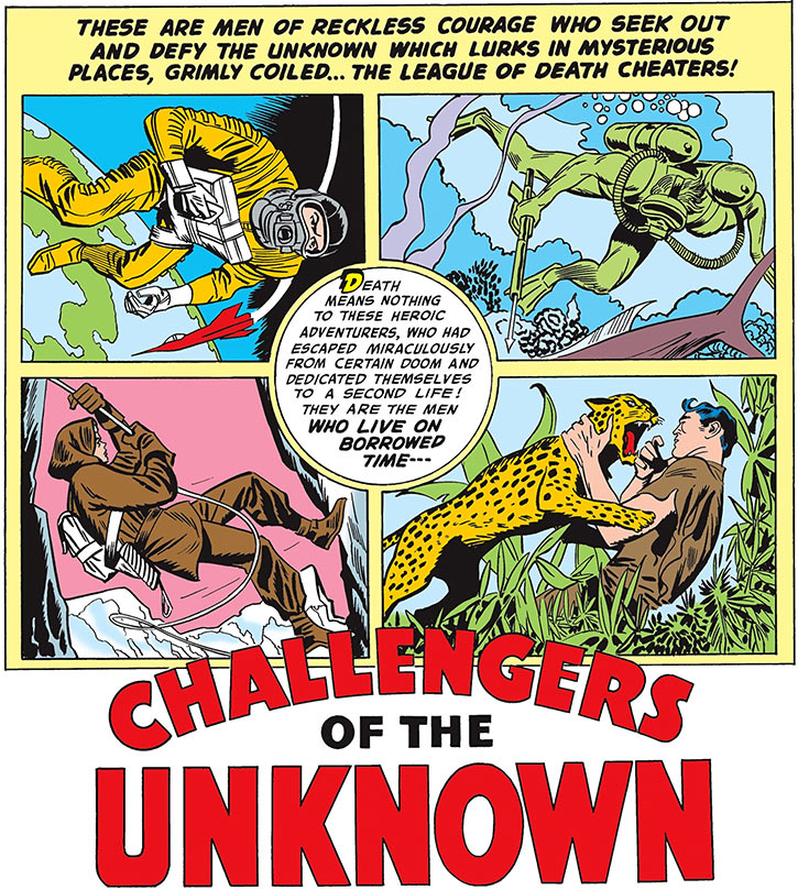 Challengers of the Unknown (Jack Kirby) (DC Comics) poster