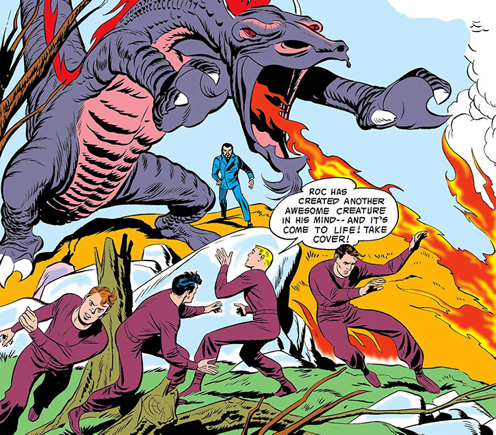 Challengers of the Unknown (Jack Kirby) (DC Comics) dragon cover