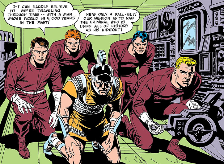 Challengers of the Unknown (Jack Kirby) (DC Comics) time travel greek