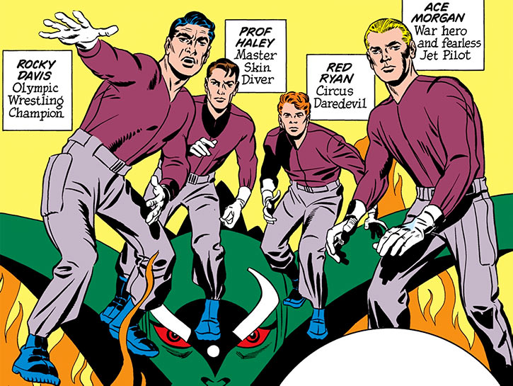 Challengers of the Unknown (Jack Kirby) (DC Comics) core team