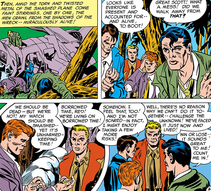 Challengers of the Unknown (Jack Kirby) (DC Comics) origin sequence