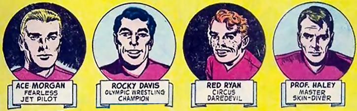 Challengers of the Unknown (Jack Kirby) (DC Comics) - Portraits from an advert page