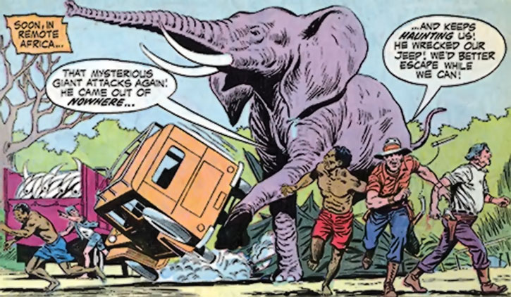 The Changeling as a giant elephant