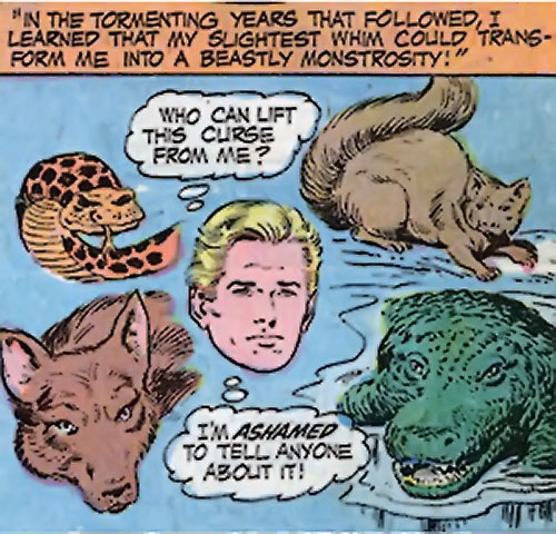 Changeling (Nagy) (Superman character) (DC Comics) and animal forms