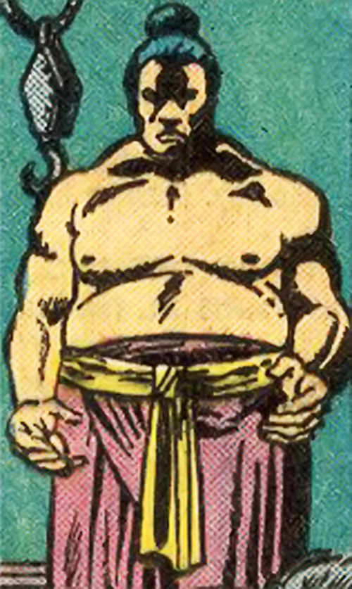 Chankar (Master of Kung Fu enemy) (Marvel Comics) standing in shadows