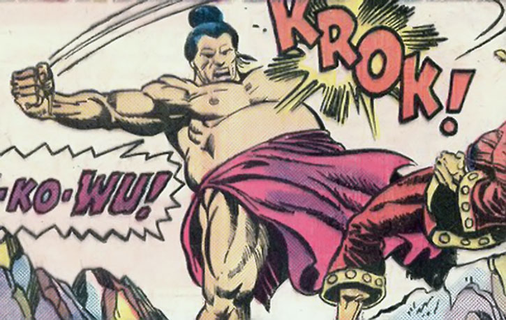 Chankar backhands Shang-Chi