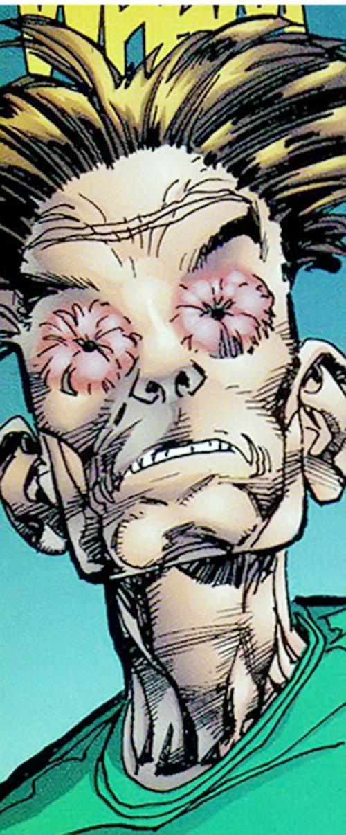 Control of Chaos and Control (Savage Dragon comics) face closeup