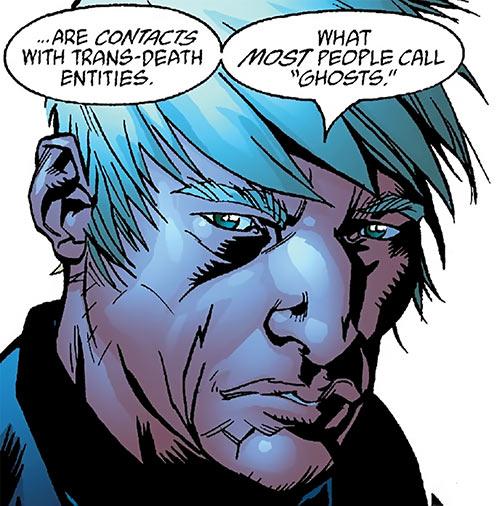 Chaplain Charlie of the Human Defense Corps (DC Comics) face closeup