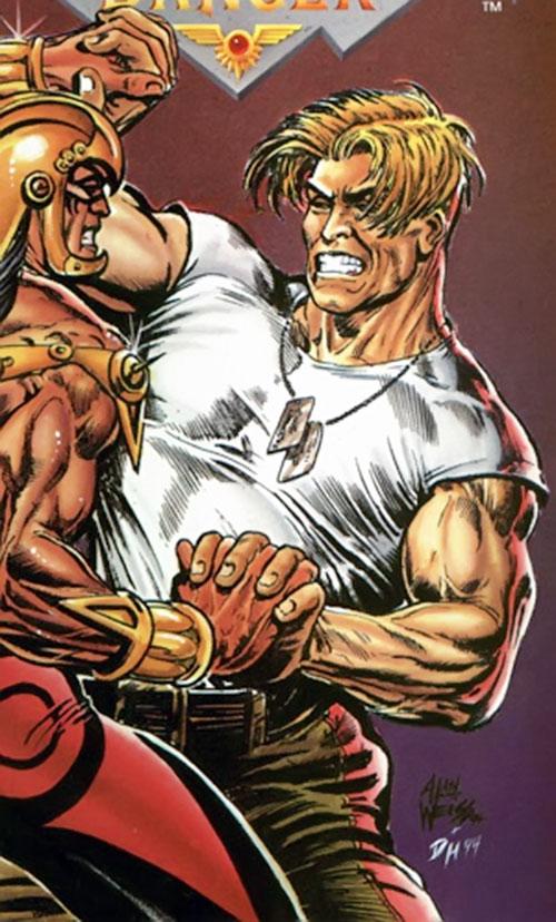 Charlemagne (Defiant comics) vs. War Dancer