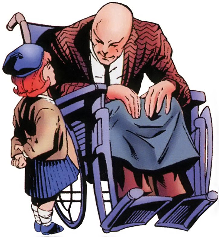 Professor Charles Xavier and little Jean Grey